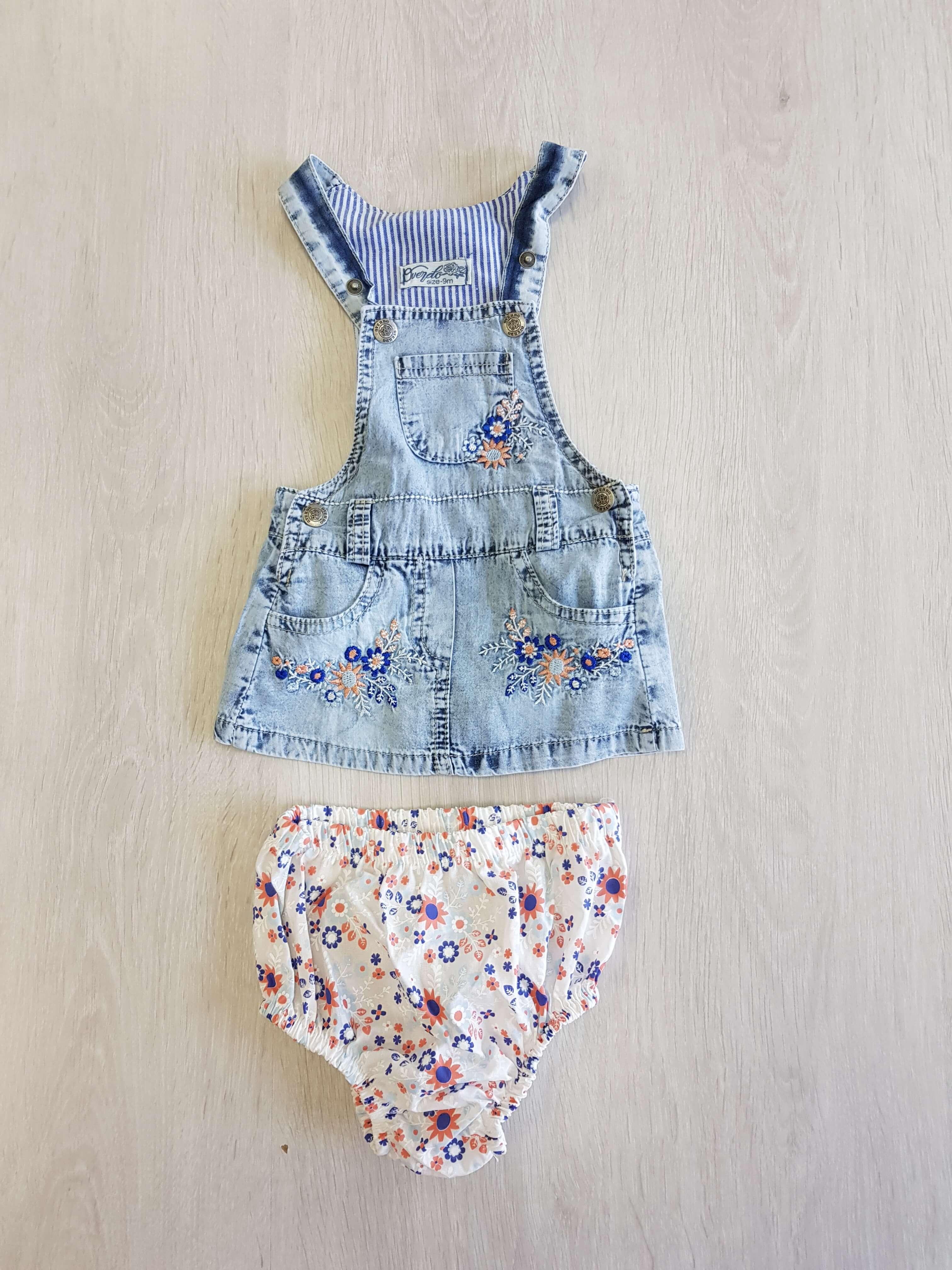 da7c2bcfed Riflové šaty s gaťkami pre dievčatko